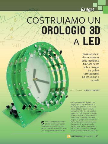 OROLOGIO 3D A LED - ElettronicaIn