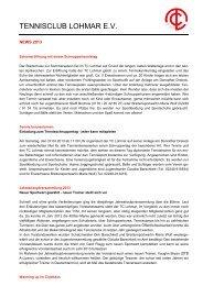 News 2013 - TC Lohmar