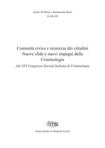 Atti XVI Congresso Nazionale della Società Italiana di ... - Ristretti.it