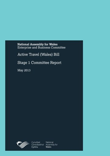 Active Travel (Wales) Bill Stage 1 Committee Report