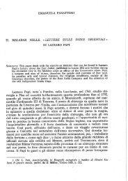 Lettere sulle Indie Orientali» di Lazzaro Papi