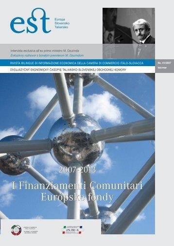 I Finanziamenti Comunitari Európske fondy I Finanziamenti ...