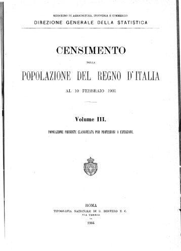 POPOLAZIONE DEL REGNO D'ITALIA - Istat