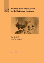 Vocabolario dei dialetti della Svizzera italiana - Repubblica e ...