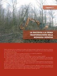 la raccolta e la prima trasformazione della biomassa legnosa