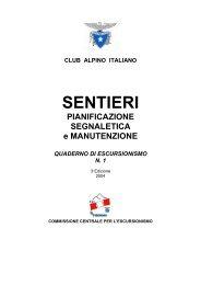 quaderno n. 1 - CAI Sottosezione U.E.T C.A.I Torino
