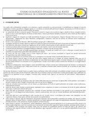 studio ecologico finalizzato al piano territoriale di coordinamento ...