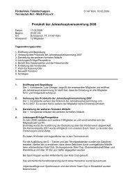 Protokoll der Jahreshauptversammlung 2009 - TC Rot-Weiss Porz