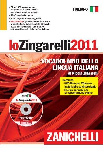 Specimen Zingarelli 2011.indd