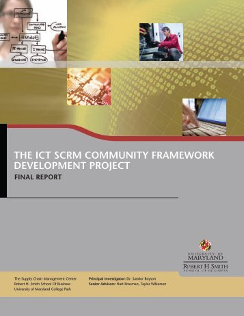 The ICT SCRM CoMMunITy FRaMewoRk DevelopMenT pRojeCT