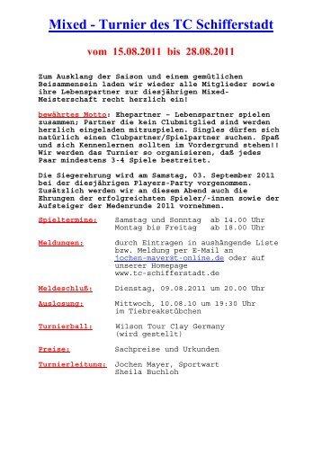 Mixed - Turnier des TC Schifferstadt