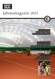 Jahresmagazin 2012 - Tennis-Club SCC Berlin e.V.