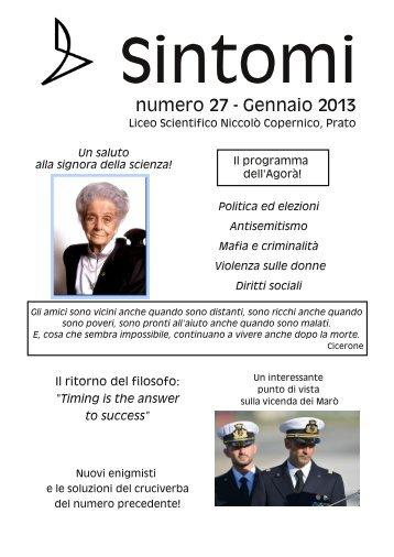 numero 27 - Gennaio 2013 - N. Copernico