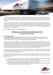 HR Manager, Shared Services & Reward (m/f) - CEVA Logistics