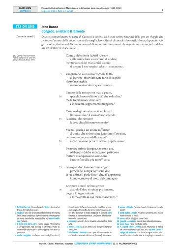 John Donne Congedo, a vietarle il lamento T72 ... - Palumbo Editore