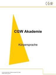 Elemente der Körpersprache - CGW Gmbh