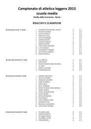 Atletica Leggera 2013 - Collegio San Giuseppe - Istituto De Merode