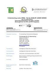 Ausschreibung Jugendturnier 2010 - TC Unterhaching