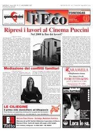 Ripresi i lavori al Cinema Puccini Nel 2008 la fine dei ... - Altopascio