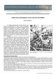 Sulky fenicia (Sardegna): nuove ricerche nell'abitato - FastiOnline
