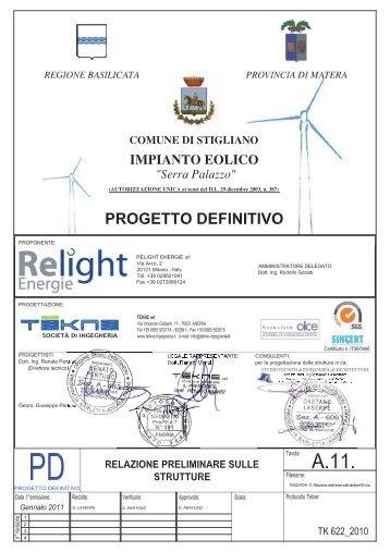 A.11 Relazione preliminare sulle strutture - Valutazioneambientale ...