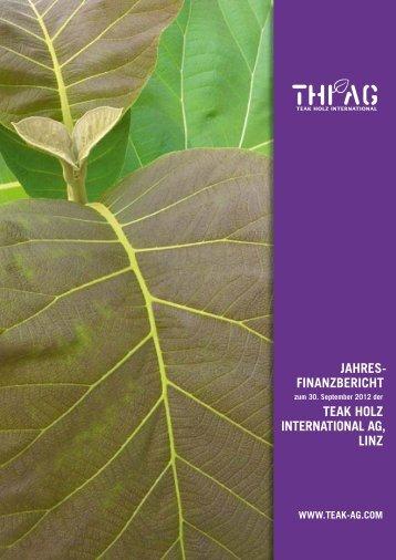 Pdf-Datei - Teak Holz International AG