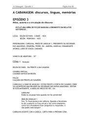 A CABANAGEM: discursos, línguas, memórias EPISÓDIO 3