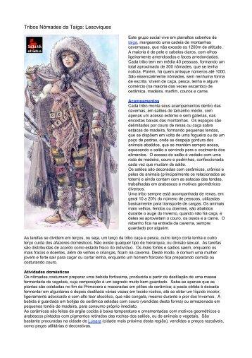 Tribos Nômades da Taiga: Lesoviques