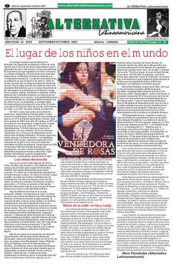 El lugar de los niños en el mundo - Alternativa Latinoamericana