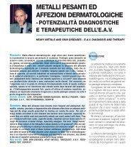 Metalli Pesanti in Dermatologia