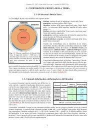 1 - COMPOSIZIONE CHIMICA DELLA TERRA 1.1 - Di ... - C.R.E.S.T.