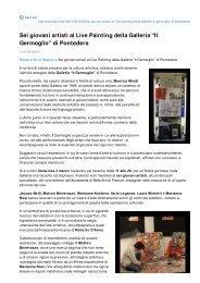 """Sei giovani artisti al Live Painting della Galleria """"Il Germoglio"""" di ..."""