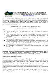 Decreto - Comunità montana Valle del Marecchia