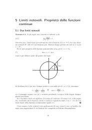 Capitolo 5: Limiti notevoli. proprietà delle funzioni continue - Batmath.it