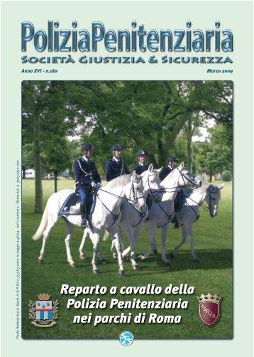 Reparto a cavallo della Polizia Penitenziaria nei parchi di Roma