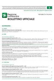 bollettino ufficiale - Politiche giovanili - Regione Lombardia