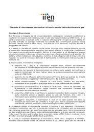 Clausole di riservatezza per fornitori di beni e servizi ... - Iren Emilia