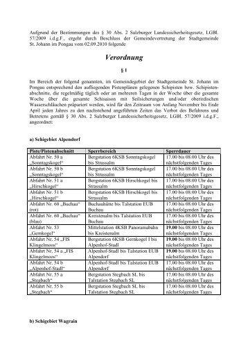 Verordnung - St. Johann im Pongau