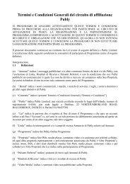 Termini e Condizioni Generali del circuito di affiliazione Publy