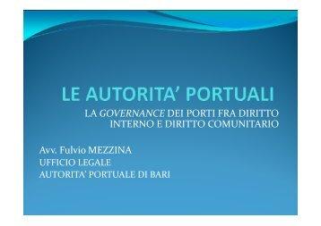 Le autorità portuali [modalità compatibilità]