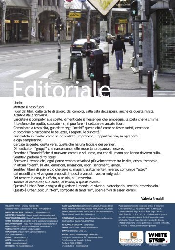 03 editoriale.indd - Urban Zoo