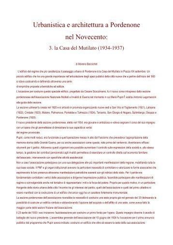 Urbanistica e architettura a Pordenone nel ... - ProPordenone