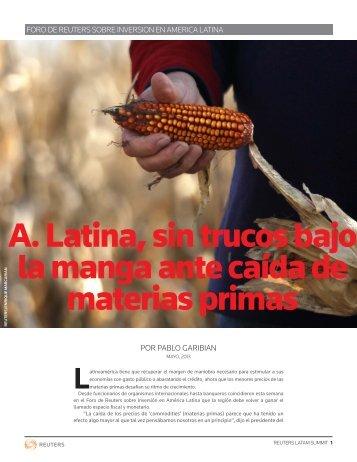 A. Latina, sin trucos bajo la manga ante caída de materias primas
