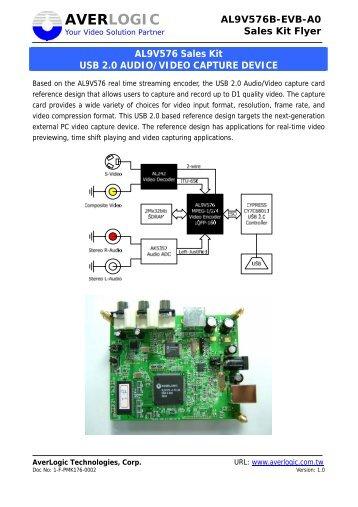 AL9V576 Sales Kit USB 2.0 AUDIO/VIDEO CAPTURE DEVICE