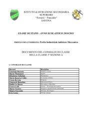 SAVONA ESAME DI STATO - ANNO SCOLASTICO 2010/2011 ...