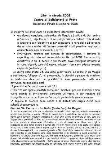 Relazione finale Libri in strada2008 (pdf) - Liberweb