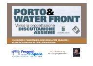 gli indirizzi di pianificazione: piano regolatore del porto e ...