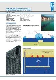 Realizzazione berma soffolta a protezione di un tratto costiero - Harpo