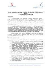 Linee Guida - Difesa del suolo - Regione Campania