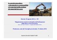 Relazione maresciallo Claudio Freddi - Provincia di Pordenone